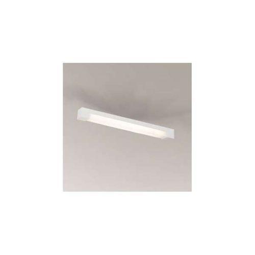 Plafon lampa sufitowa sumoto 1191/g5/bi prostokątna oprawa natynkowa listwa biała marki Shilo