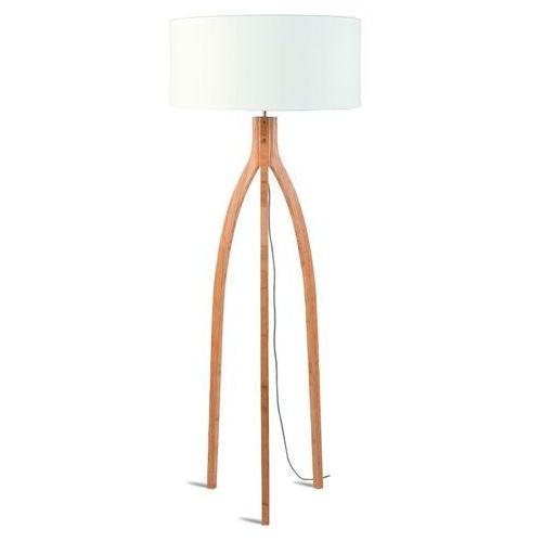 lampa podłogowa annapurna bambus 3-nożna 128cm/abażur 60x30cm, lniany biały annapurna/f/6030/w marki Good&mojo
