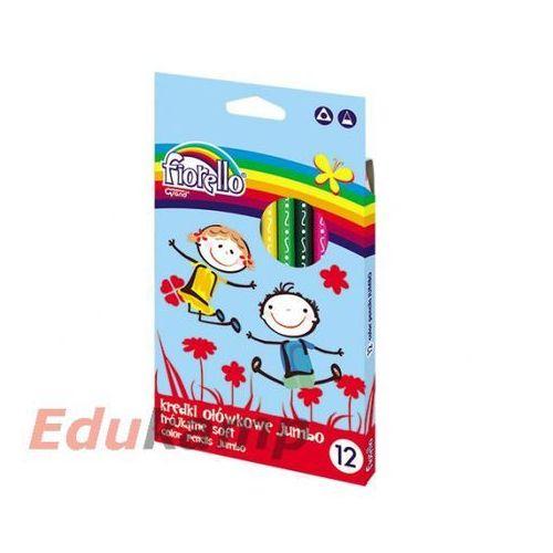 Kredki ołówkowe trójkątne Jumbo Super Soft 12 kolorów, X00669