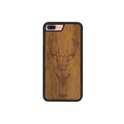Apple iphone 7 plus - etui na telefon wood case - jeleń - imbuia marki Etuo wood case