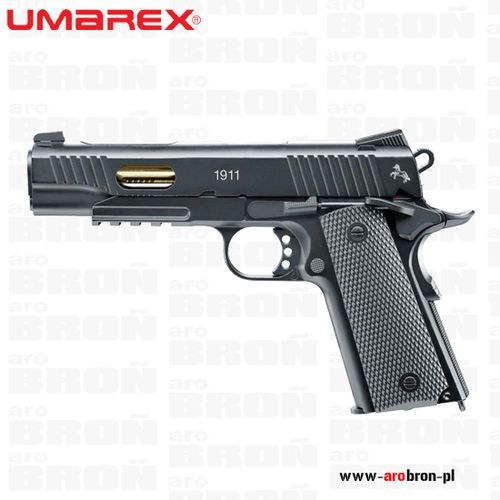 Pistolet wiatrówka UMAREX COLT 1911 CUSTOM 5.8317 - metalowa replika, 4,5mm, śrut BB, BlowBack, CO2, system SA/DA