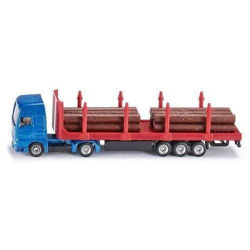 Siku samochód ciężarowy z naczepą i drewnem 1:87 (1659)