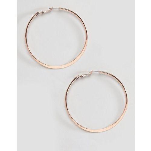 River island flat bottom hoop earrings in rose gold - copper