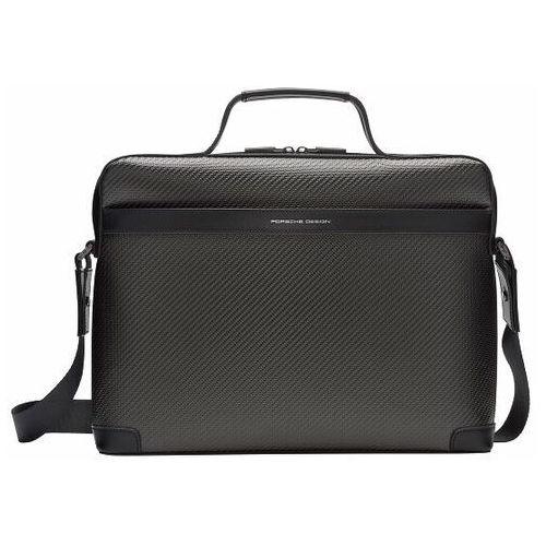 Porsche design carbon torba biznesowa 38 cm przegroda na laptopa black