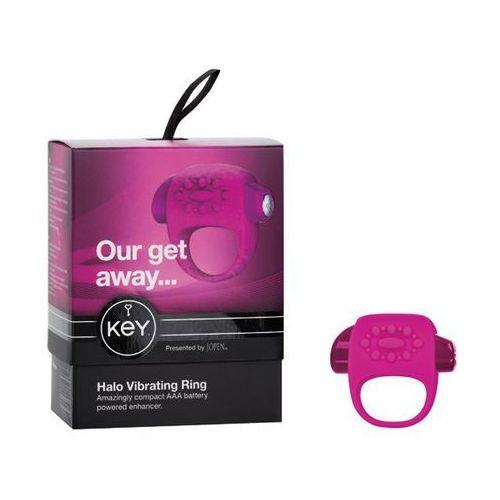 Sexshop - wibrujący pierścień na penisa - by jopen halo cock ring różowy - online marki Key