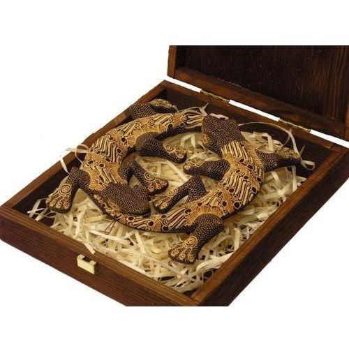 Emocjonalny prezent rzeźba jaszczurka miłości w prążki marki Wyspa java