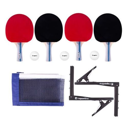 Zestaw do tenisa stołowego setozio - rakietki, piłeczki, siatka, uchwyty i opakowanie marki Insportline