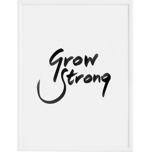 Plakat grow strong 30 x 40 cm marki Follygraph