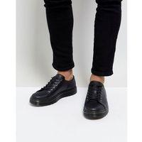 Dr martens dante straw grain leather 6-eye shoes - black