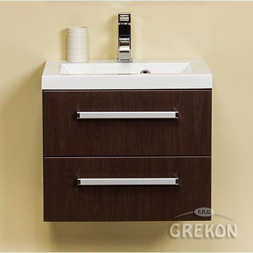 Gante Szafka łazienkowa z umywalką 50/39/2 seria fokus wenge mat