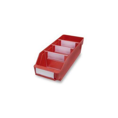 Stemo Skrzynka regałowa z wysokiej jakości, odpornego polipropylenu,czerwona