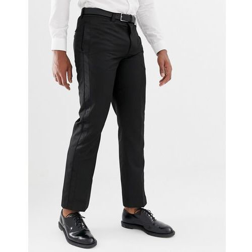 trouser with contrast trim in black - black, Bellfield