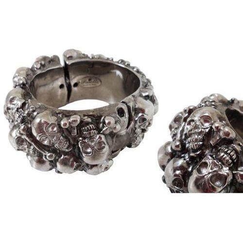 Mosiężna bransoletka br k20 - gothic skull bracelet marki Pasotti