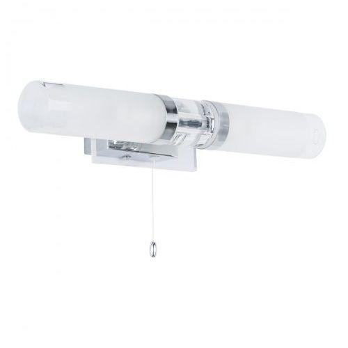 Italux Kinkiet lampa ścienna hook mb030101-2c łazienkowa oprawa galeryjka nad lustro chrom biała (5900644323877)