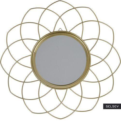 D2 Selsey lustro flowe złote o średnicy 26 cm (5903025250342)