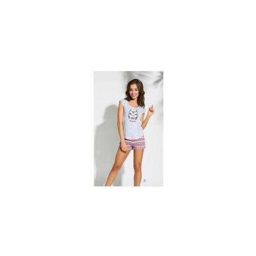 Piżama damska TARO 2157 Eva jasny szary