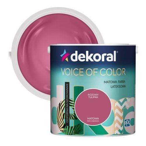 Farba voice of color różowy tulipan 2,5 l marki Dekoral