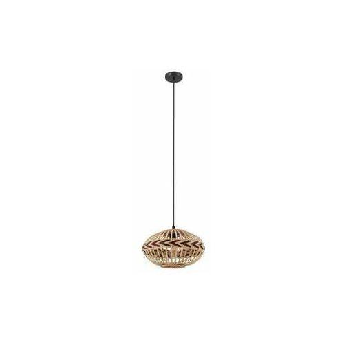 Eglo Dondarrion 43271 lampa wisząca zwis 1x40W E27 drewno