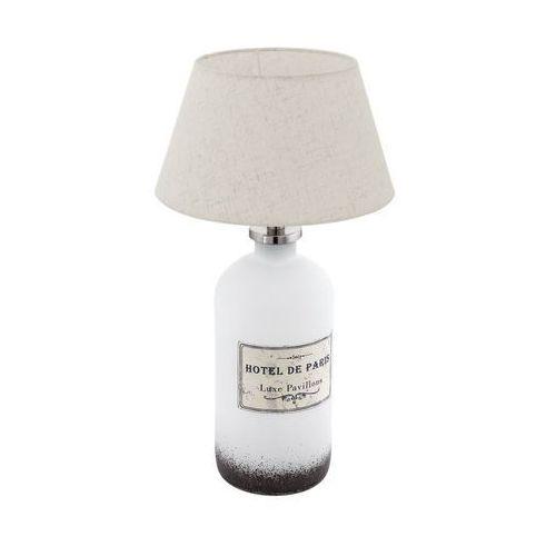Lampka oprawa stołowa roseddal 1x40w e27 biała / kremowa 49663 marki Eglo