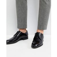 Boss Hugo derby patent leather shoes in black - black