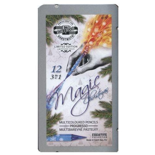 Koh-i-noor Kredki progresso magic 12 kolorów w metalowej kasetce (8593539278870)