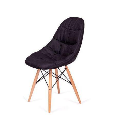 King home Tapicerowane krzesło rugo do jadalni na drewnianych nogach