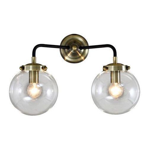 Italux Kinkiet odelia mb1009-2 lampa ścienna 2x28w e14 czarna / brąz antyczny