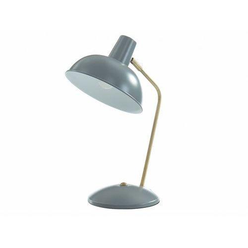 Lampa stojąca HEROLD w stylu vintage – żelazo – 25 × 19,5 × 37,5 cm (dł. × szer. × wys.) – kolor szary