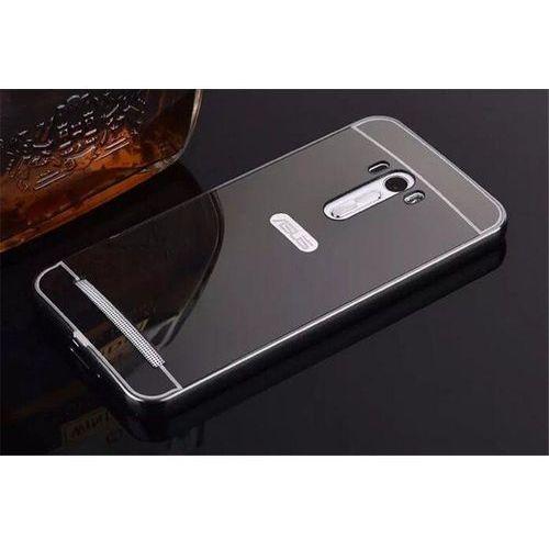 Mirror Bumper Metal Case Czarny   Etui dla Asus ZenFone 2 Laser 5.0 - Czarny
