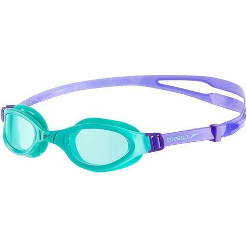 Speedo futura plus okulary pływackie dzieci fioletowy/turkusowy 2018 okulary do pływania