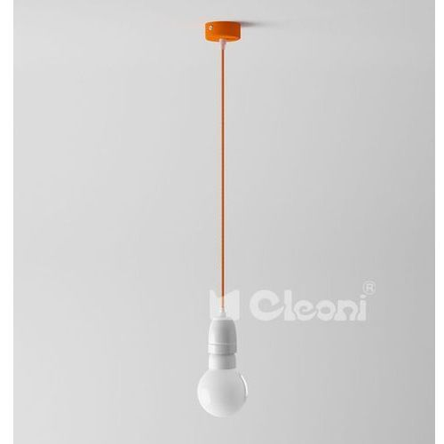 lampa wisząca EGO 1B z pomarańczowym przewodem, CLEONI 1298B+