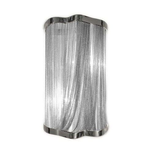 Kinkiet atlanta wall 2 - aluminium, stal marki King home