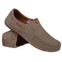 Półbuty wsuwane buty KRISBUT 4627-4-1 - Beżowy ||Brązowy