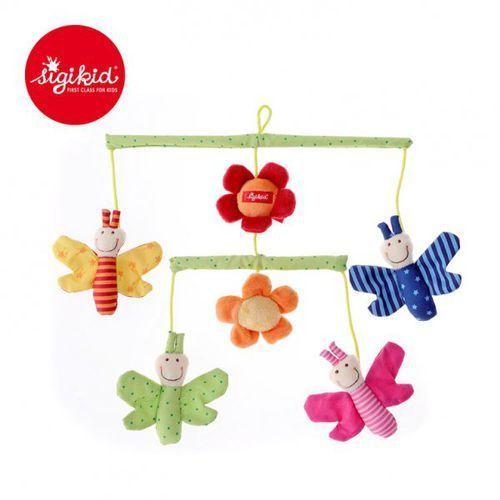 Sigikid miękka karuzela nad łóżeczko z kwiatami i motylkami