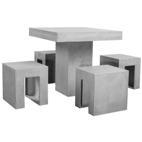 vidaXL Zestaw mebli ogrodowych z betonu, 5 elementów