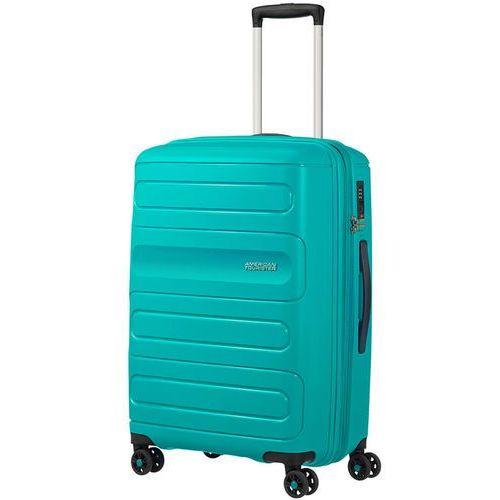 American tourister sunside średnia poszerzana walizka 67,5 cm / turkusowa - aero turquoise (5414847861802)