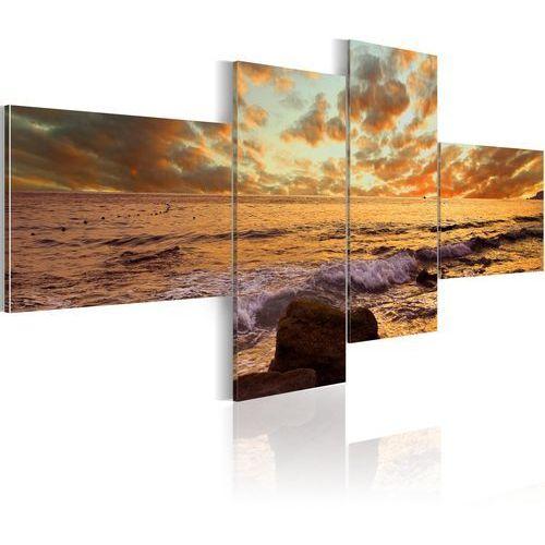 Obraz - zachód słońca nad morzem marki Artgeist