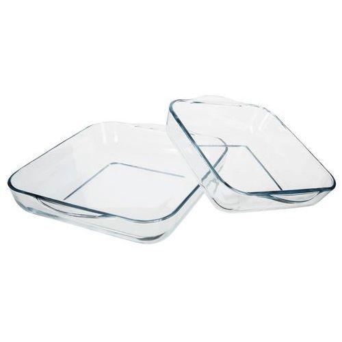 Dwie kwadratowe formy do pieczenia - szklane, naczynia żaroodporne (8693357192928)
