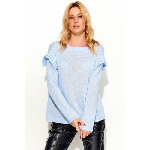 Sweter damski model s50 sky blue marki Makadamia
