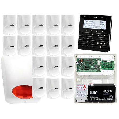 Zestaw alarmowy Satel INTEGRA 128-WRL Manipulator sensoryczny INT-KSG-BSB 16x Czujka LC-100 Sygnalizator zewnetrzny SPL-5010 R Powiadomienie GSM, ZA13559