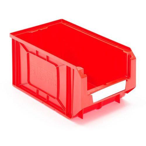 Czerwone pojemniki magazynowe 11,6 l 205x165x345mm - 24szt w opakowaniu