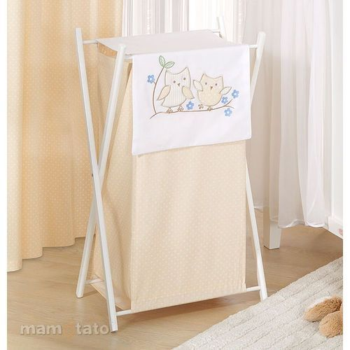 kosz na bieliznę sówki uszatki biszkoptowe marki Mamo-tato