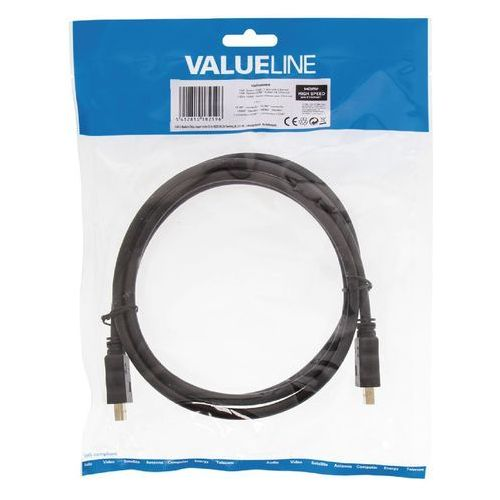 Valueline Kabel hdmi - hdmi z ethernetem 1.5m (5412810182596)