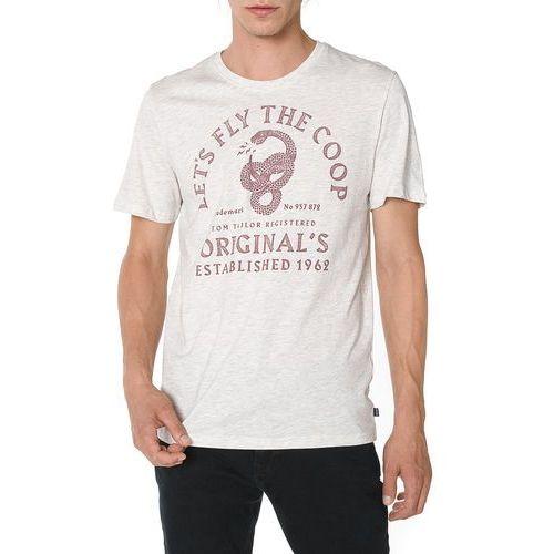 koszulka biały szary m marki Tom tailor