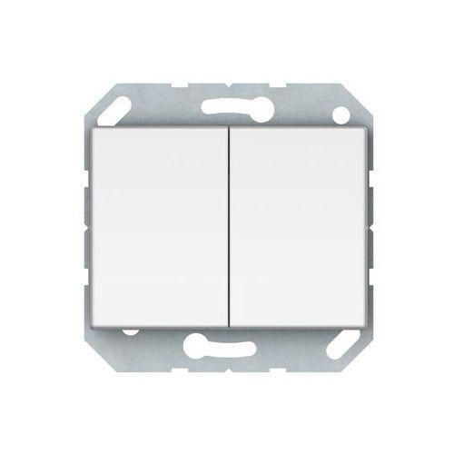 Dpm Włącznik schodowy vilma p(6+6)10-020-02b biały