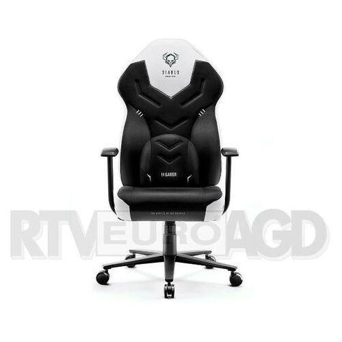 Fotel x-gamer 2.0 (l) czarno-biały marki Diablo chairs