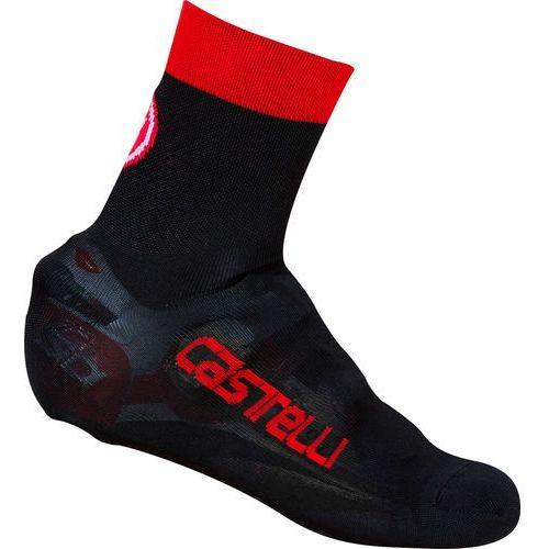 Castelli belgian 5 osłona na but czerwony/czarny l-xl   40-43 2018 ochraniacze na buty i getry (8055688499655)