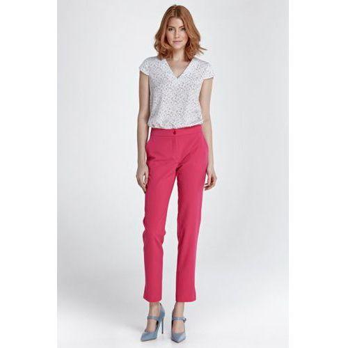Eleganckie spodnie z rozcięciem sd28 fuksja marki Nife