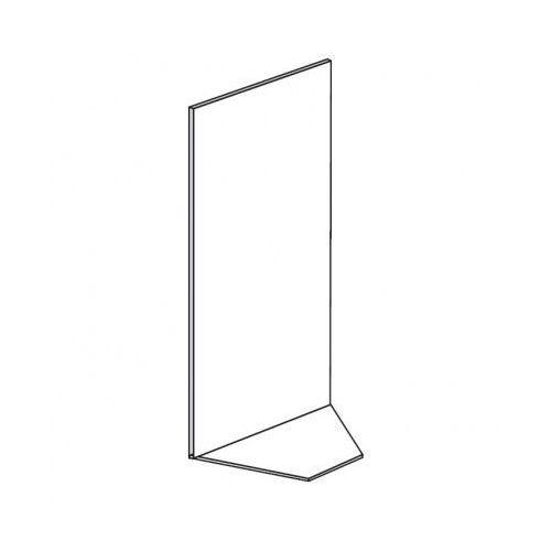 Regały sklepowe - narożne, pełne ściany, 1900x1000x600 mm
