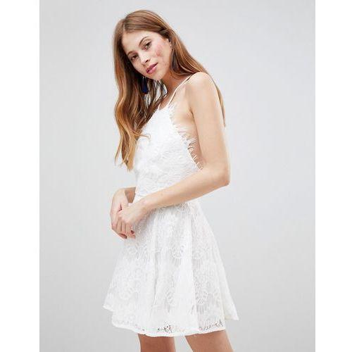 Glamorous Skater Dress - White